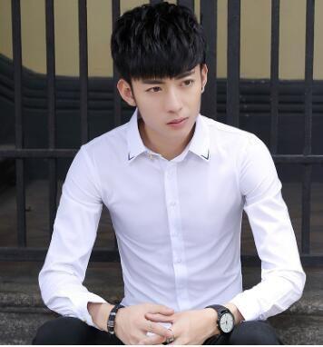 Herbst 2018 langarm herren shirts Koreanische version von revers männer shirts casual neue hemd kreative hersteller quelle GZ-106