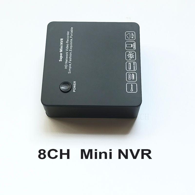 ONVIF Mini NVR 8CH DVR VGA & HDMI 1080 P P2P Wolke netzwerk-videorecorder für IP CCTV Überwachungskamera unterstützung RTSP mehrsprachige