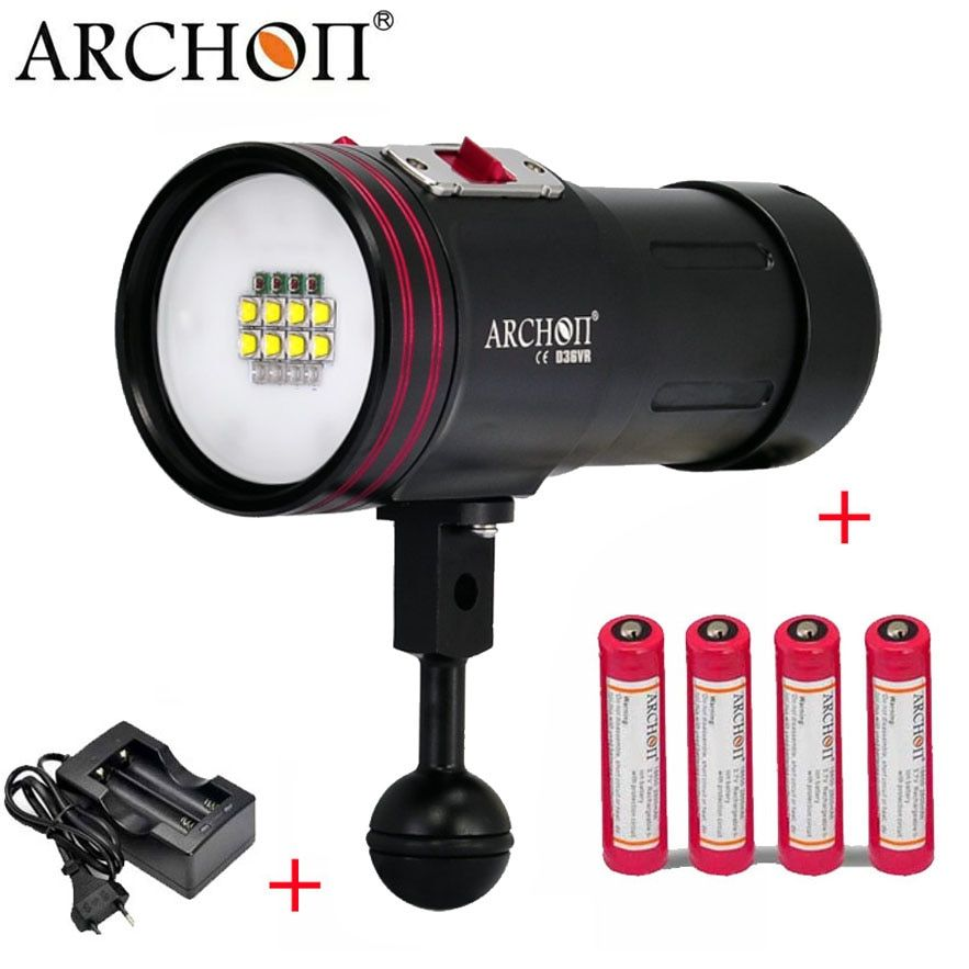 ARCHON D36VR W42VR Update ARCHON D36V W42V CREE U2 UV Multifunction Underwater Photographing Diving Light Video Light