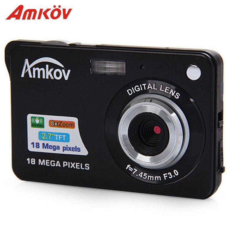 Amkov AMK-CDC3 Professional Cameras Digital Cameras 2.7'' TFT 8mp 9.5 * 6 * 2cm Support Direct Print Mini Photo Camera HD Camera