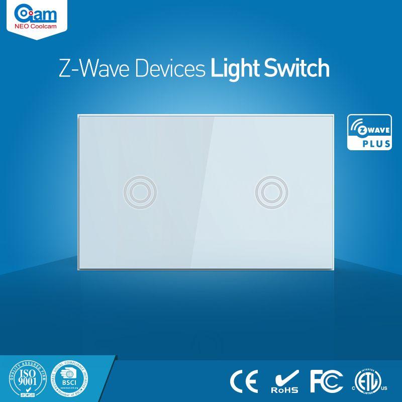 NEO Coolcam Maison Intelligente Z-Vague Plus 2CH US Interrupteur Compatible avec Z-vague 300 série et 500 série Domotique
