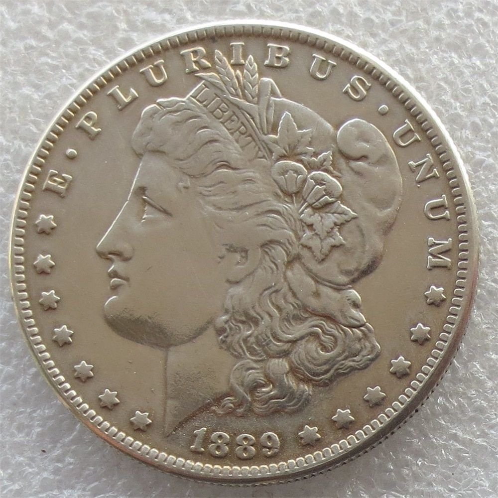 90% Silver Date 1889 - CC Morgan Dollar Copy Coin Weight 26.70-26.73 Grams Make New Or Old Free Shipping