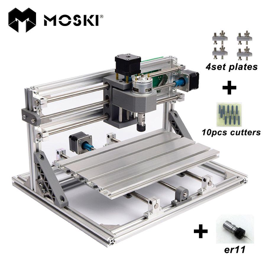 Moski, cnc3018 ER11, гравировальный станок с ЧПУ, pcb Фрезерные станки, дерево маршрутизатор, лазерная гравировка, grbl управления, CNC 3018, лучшие игрушки