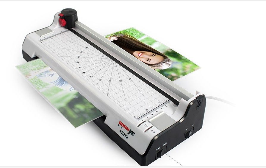 A4 multifunktions 2 in 1 Foto Thermische & Cold Beutel Laminator + Papier Trimmer Papierschneider