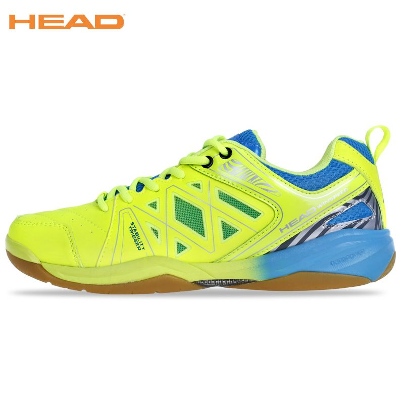 HEAD Top Quality Professional Badminton Shoes For Men Light Weight Sneakers Boots Brand Sport Shoes Green Blue Badminton Shoes