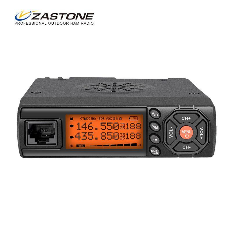 Zastone Z218 Mini Car Walkie Talkie 10KM 25W Dual Band VHF/UHF 136-174mhz 400-470mhz 128CH Mini Mobile Radio Station Transceiver
