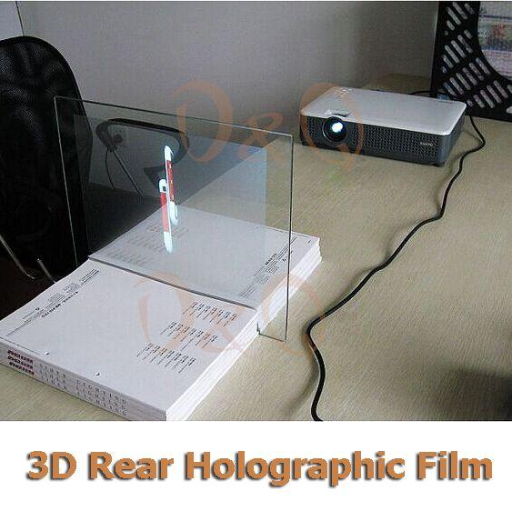 3D Holographique De Projection Film Adhésif Écran De Projection Arrière A4 Taille 1 Pièce