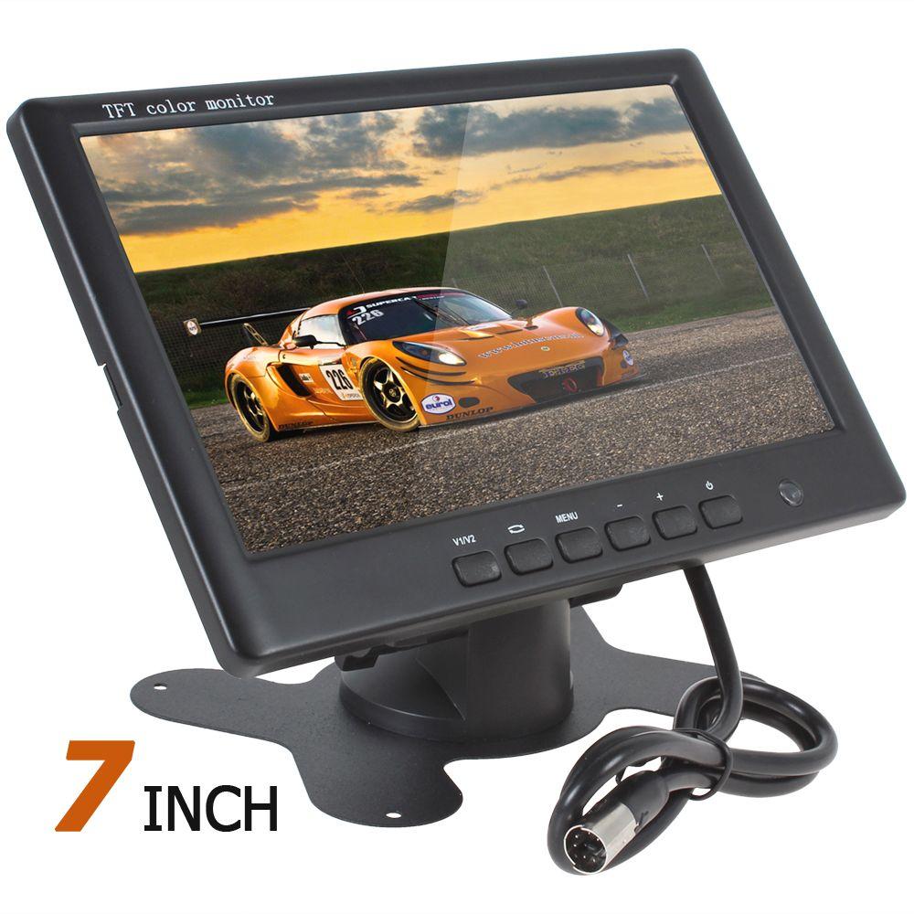 7 ''Цвет TFT ЖК-дисплей заднего вида Мониторы HD 800x480 7 дюймов заднего вида обратной парковочная Мониторы С 2 видео Вход