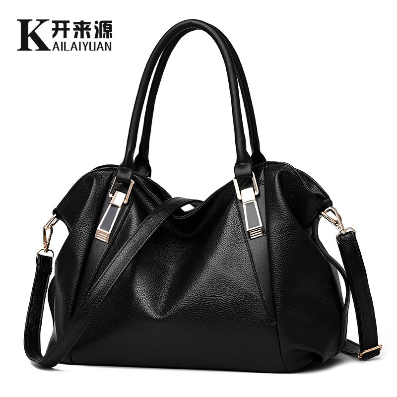 KLY 100% Genuine leather Women handbag 2018 New Classic casual fashion female Cross hand bag of bill of lading messenger bag