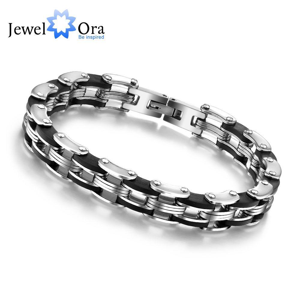 Acero inoxidable pulsera y brazalete 210mm cuerda encanto cadena pulsera de la pulsera de los hombres regalos para él (jewelora BA100159)