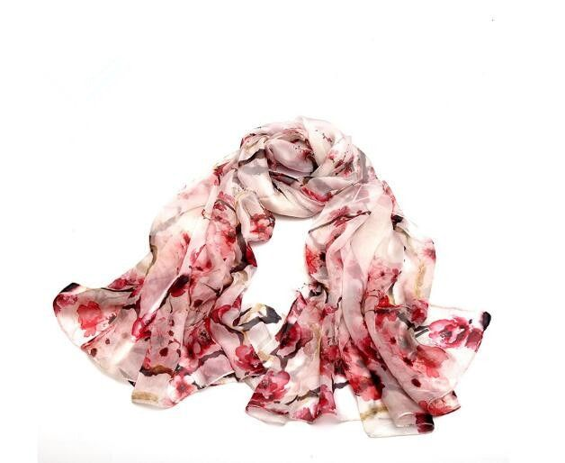 2018 New <font><b>style</b></font> women summer flora print silk scarf soft wraps high quality