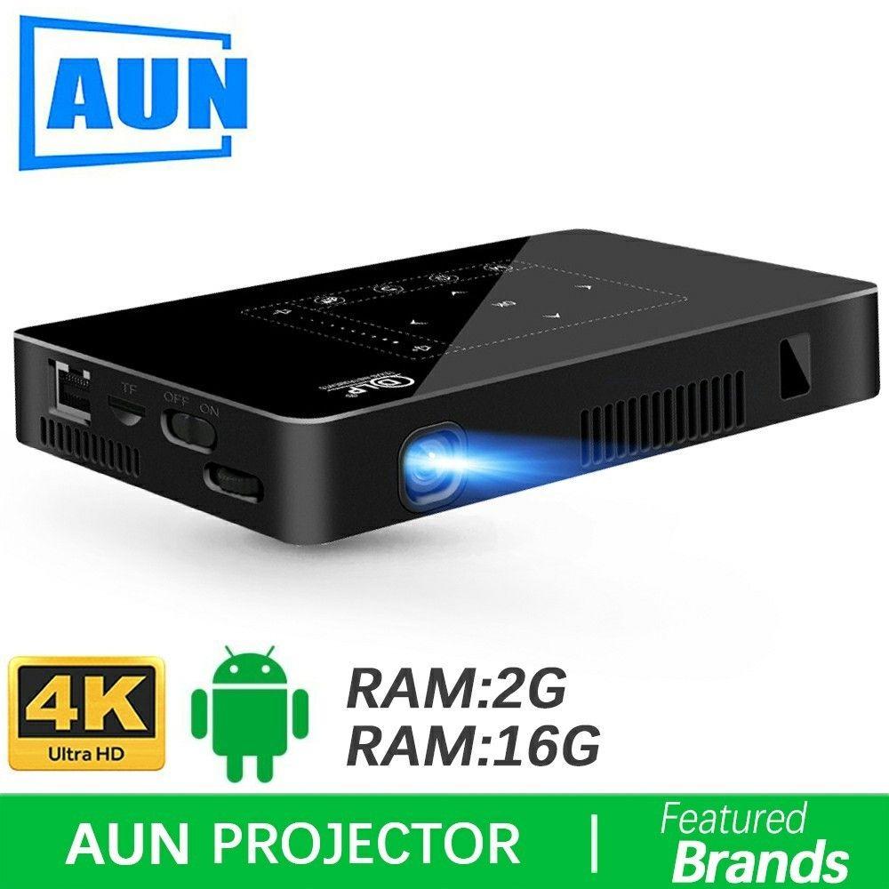 Marke AUN Android Projektor D8I, 2g + 16g, 1280*720 Auflösung, unterstützung 1080 p 4 karat Video, LED MINI Proyector (Optional D8 beamer)