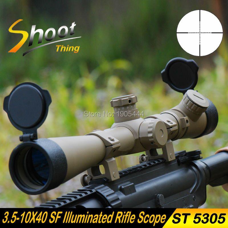 St5305 стрелять вещь Снайпер Охотничья Оптика прицел 3.5-10x40 SF подсветкой Прицел Mil-точка сетка телескопическая прицел