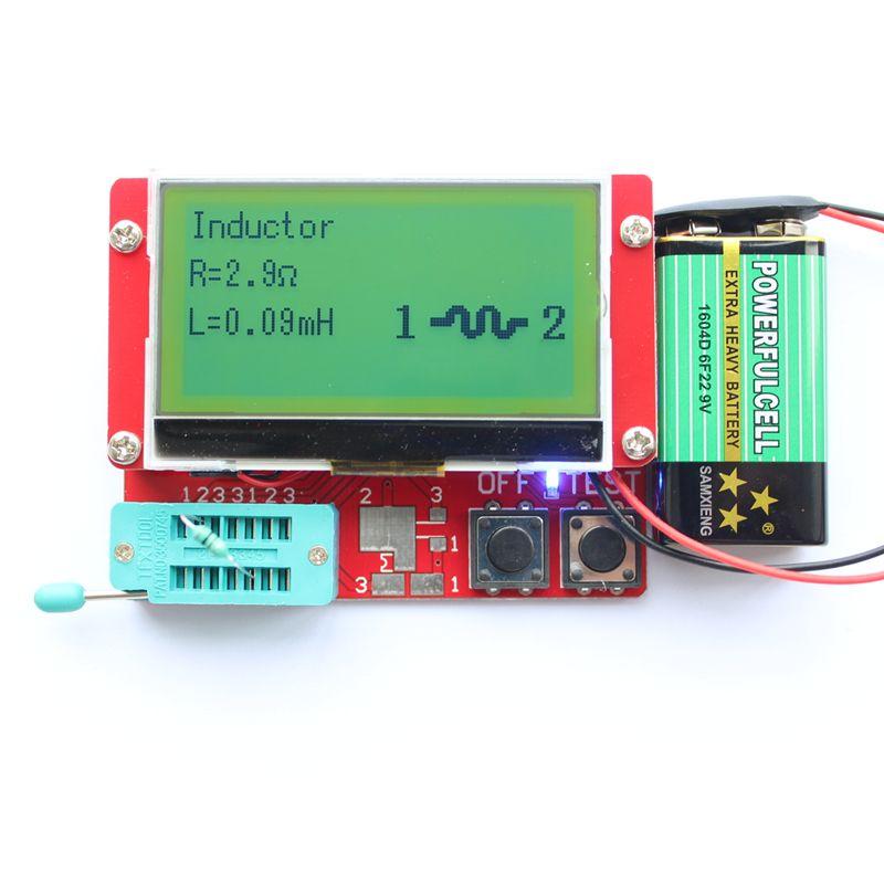 2015 ESR-T4 Mega328 Digital Transistor Tester <font><b>Diode</b></font> Triode Capacitance ESR Meter MOS/PNP/NPN LCR TESTER METER 12864 LCD screen