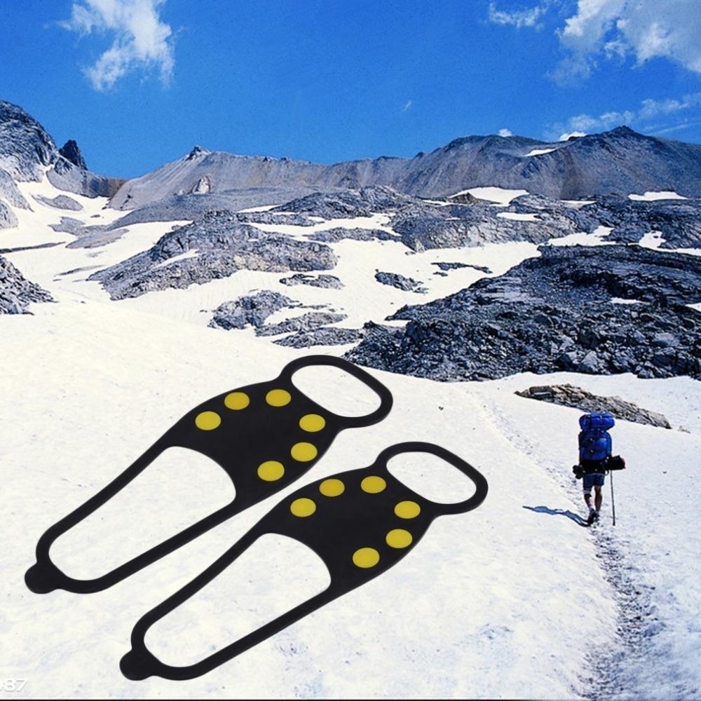 1 paar Heiße Neueste Fuß Cleat Ice Greifer Anti Slip Ice Snow Walking Schuh Spike Grip Camping Climb Ice Steigeisen eis freies shippng