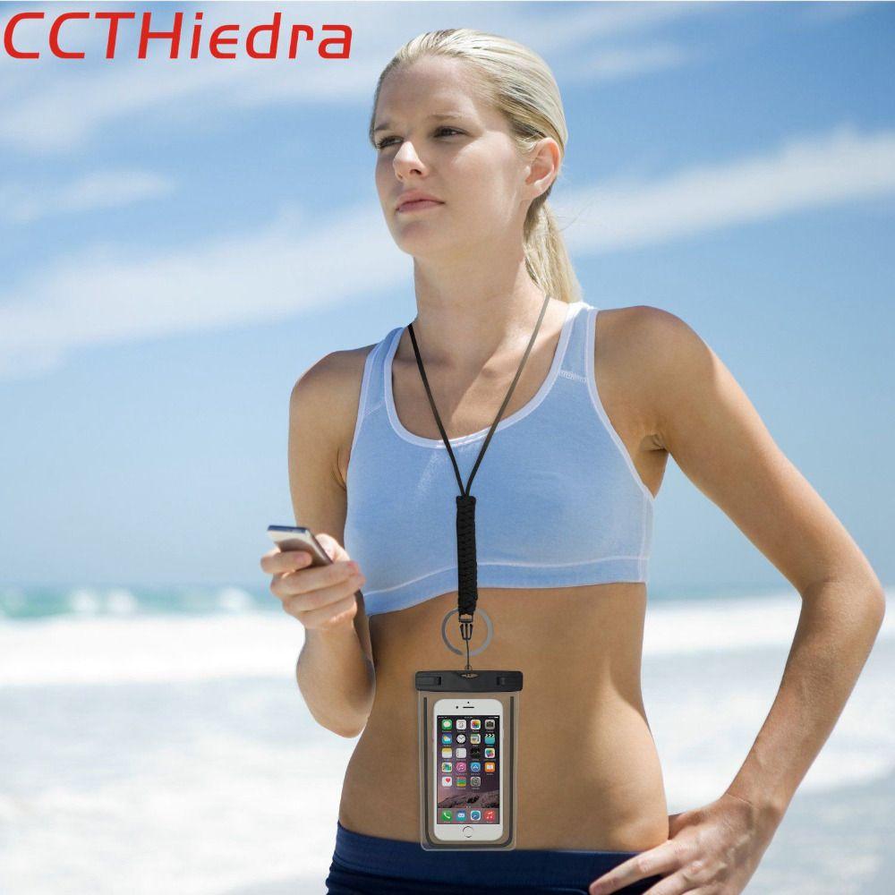 CCTHiedra Marke Für iPhone X 8 7 6 Plus 5 6 S Beutel wasserdicht Fällen Abdeckungen Für Samsung Galaxy S7 S8 Rand Universal Telefon Taschen