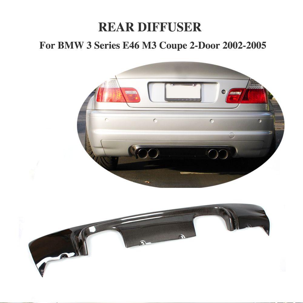 Half Carbon Fiber Rear Bumper Diffuser Lip for BMW 3 Series E46 M3 Coupe 2-Door 2002-2005