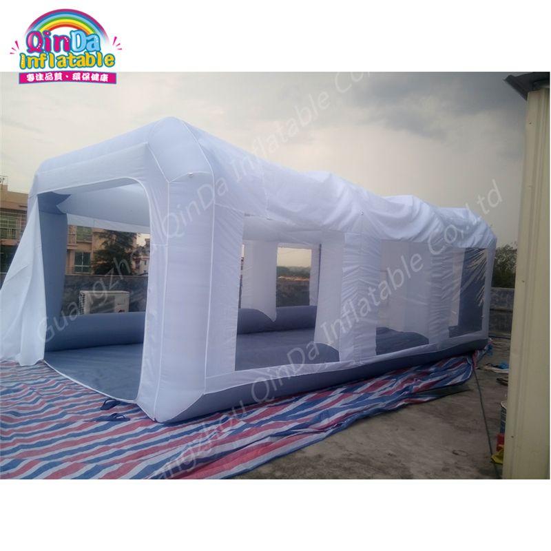 7 m * 4 m * 2.5 m En Plein Air Gonflable Cabine De Pulvérisation, Voiture Pulvérisation Cabine De Peinture Gonflable De Voiture Peinture cabine Avec 2 Livraison Souffleurs D'air