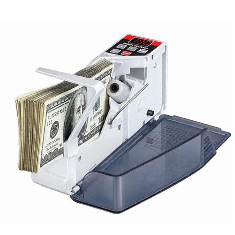 Mini Portable Handy Money Counter For Paper Currency Note Bill Cash Counting Machine Financial Equipment T0.2