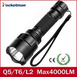 LED Flashlight 4000 Lumens Max L2 T6 Q5 Senter Tahan Air LED Obor Lanterna Camping Berburu Lampe De Torche ZK93