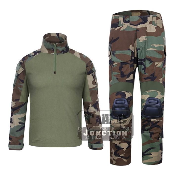 Emerson G3 Combat Shirt & Pants Tops+Trousers w/ Knee Pads Set EmersonGear Tactical Military Hunting GEN3 Camouflage BDU Uniform