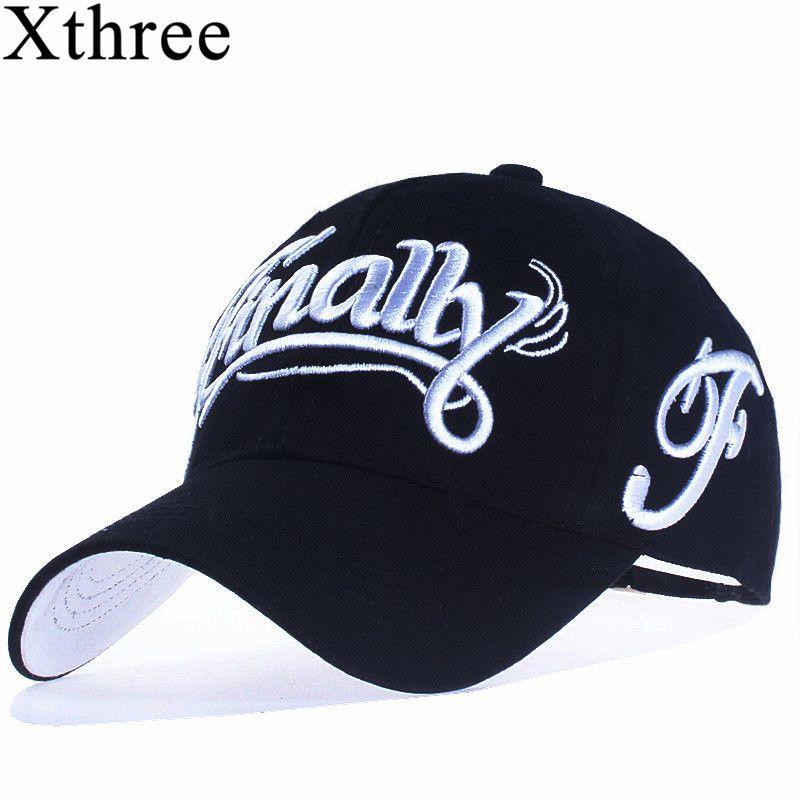 [Xthree] 100% baumwolle baseball cap frauen lässig hysteresenhut für männer casquette homme Brief stickerei gorras