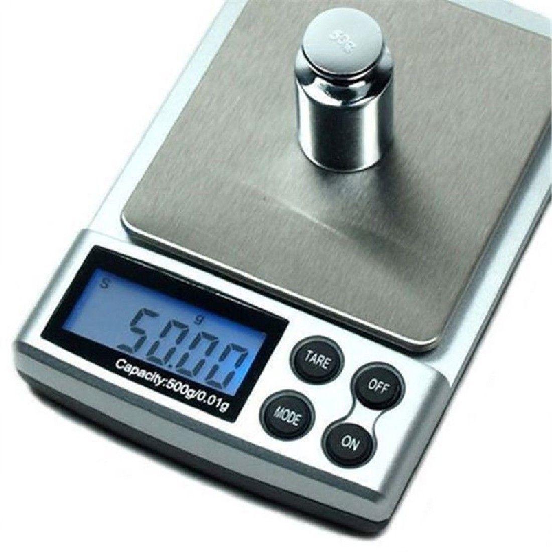 1 pc 500g x 0.01g échelle de précision numérique or argent bijoux Balance de poids balances LCD unités d'affichage balances électroniques de poche