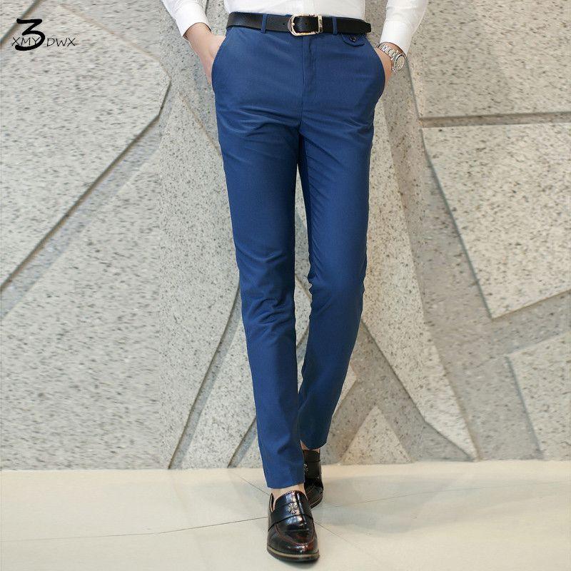 Xmy3dwx модные Для мужчин Чистый цвет деловой костюм Штаны/мужской высокого класса высокого качества домашние штаны/Для мужчин повседневные ш...