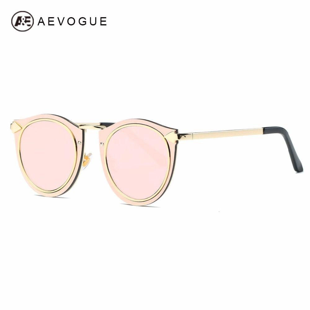 AEVOGUE Солнцезащитные очки для женщин женские металлические Рамки Классический Ретро Стрелки Украшенные Брендовая Дизайнерская обувь стимп...