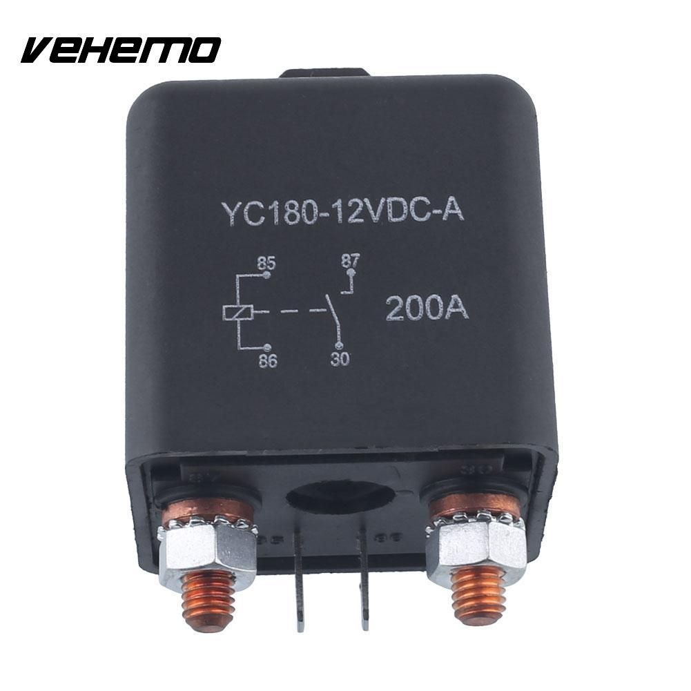 Vehemo 12 V 200A Relais 4 Broches Pour Voiture Auto Heavy Duty Installer Split Chargeover