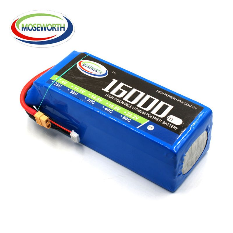 Battery Lipo 6S 22.2V 16000mAh 25C For RC Helicopter Drone Quadcopter Airplane Car Boat Truck Remote Control Toys Lipo Battery