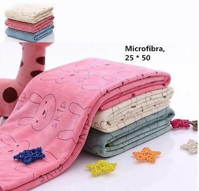 Rabbit Microfiber Baby Kids Beach Bath Towel For Bathing Swimming Absorbent Drying