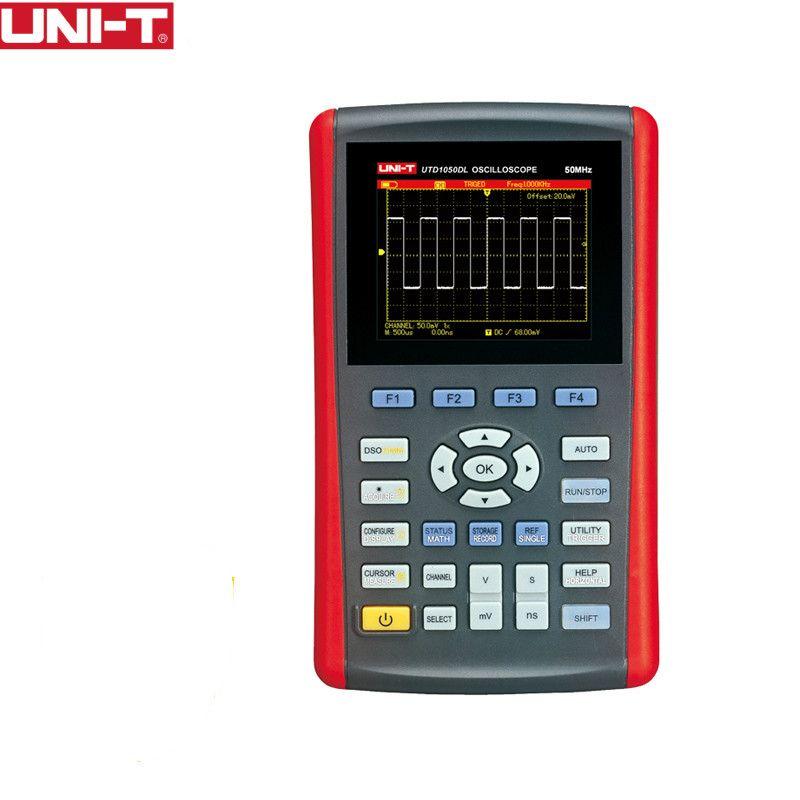 UNI-T UTD1050DL Handheld Digital Storage Oscilloscopes 2CH Scopemeter Scope meter 7 inches widescreen LCD displays USB Interface