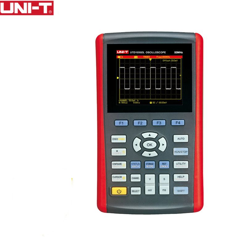 UNI-T UTD1050DL Handheld Digital Storage Oscilloscopes 2CH Scopemeter Scope meter 7 inches widescreen LCD displays USB Interface