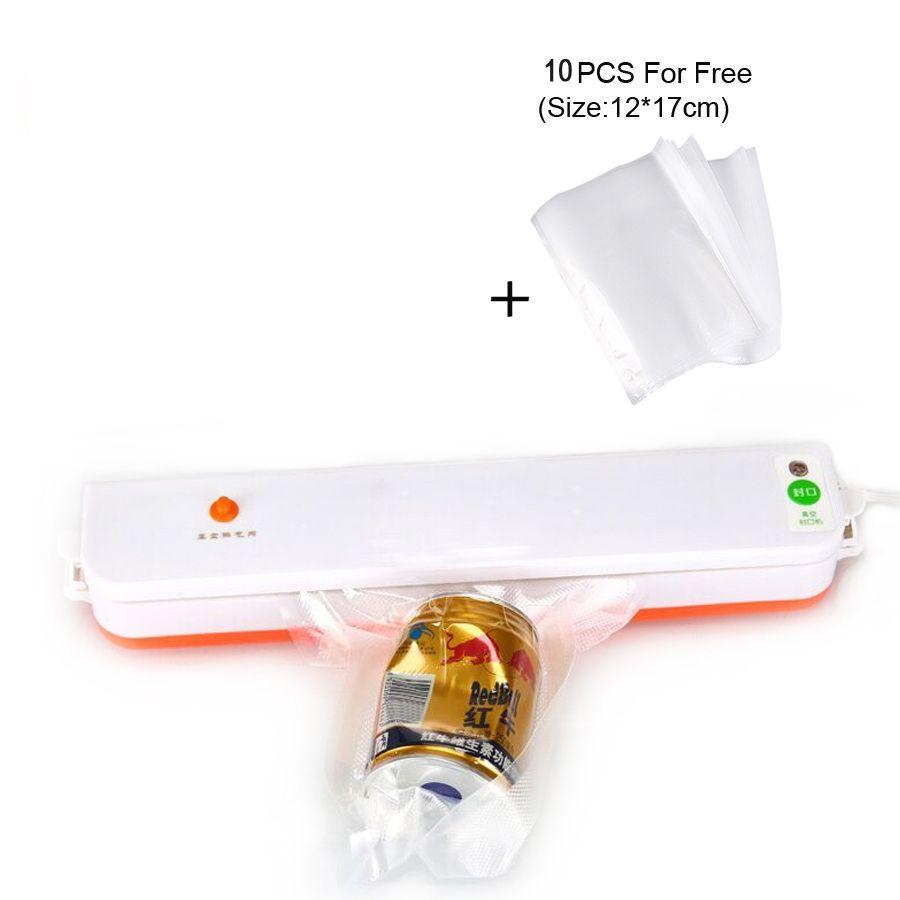 Bonne Qualité meilleur vide machine d'emballage 220 v sealer packer alimentaire d'étanchéité vide vacuator machine inclus 10 pcs Livraison sacs