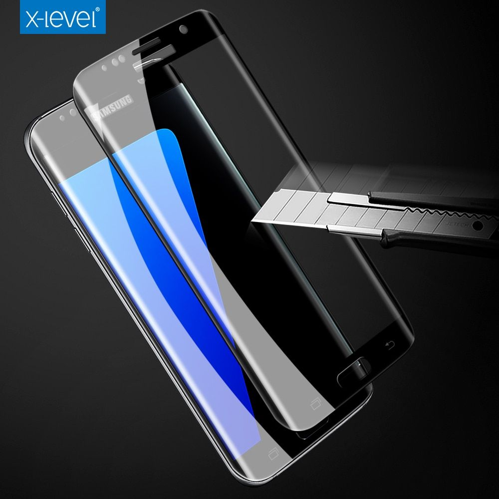 X-level 9H 3D 0.2mm Full Screen High Definition Thin technology For Samsung Galaxy S7 S7 Edge tempered glass