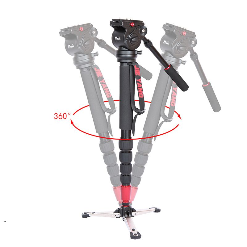 DHL PROGO JIEYANG JY0506 Aluminum Alloy Professional Monopod For Video Camera Tripod For Video Tripod Head Carry Bag wholesale