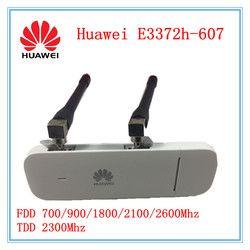 Débloqué Huawei E3372 E3372h-607 + Double Antenne 4G LTE 150 Mbps USB Modem USB Dongle Soutien Tous Bande avec CRC9 antenne