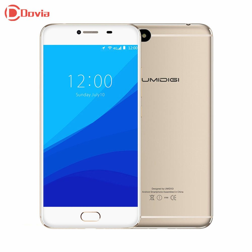 UMIDIGI C NOTE 4G Smartphone 5.5inch 1920*1080 MTK6737T Quad Core 3GB+32GB 13MP 5MP Camera 3800mAh Fingerprint OTG Mobile Phone