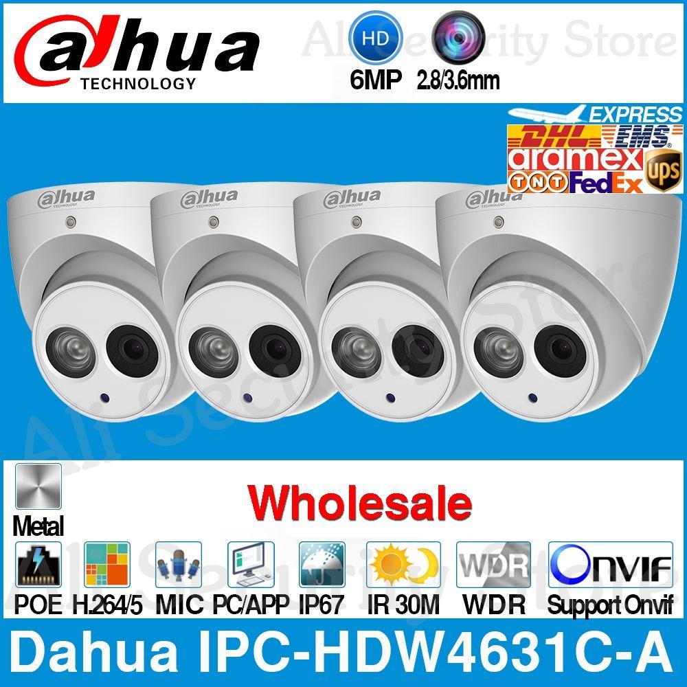 Dahua Großhandel IPC-HDW4631C-A 6MP HD POE Netzwerk Mini-Dome IP Kamera Metall Eingebaute MIC CCTV 30M IR Onvif von IPC-HDW4433C-A