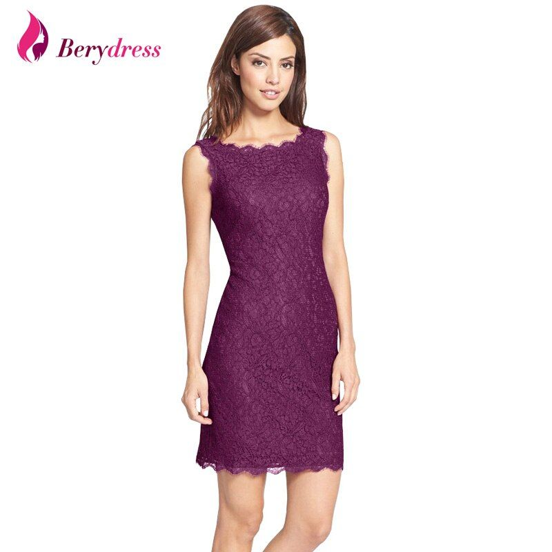 New Bodycon Cocktail Party Elegant Women Sleeveless Full Zip Back Floral Lace Dress Short Burgundy Women Dresses Hot <font><b>Selling</b></font>