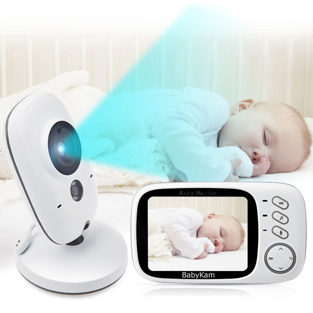 BabyKam 3.2 inch LCD Wireless Video Baby Camera Monitor Night Vision Nanny Security Camera Temperature Monitoring VOX Babysitter
