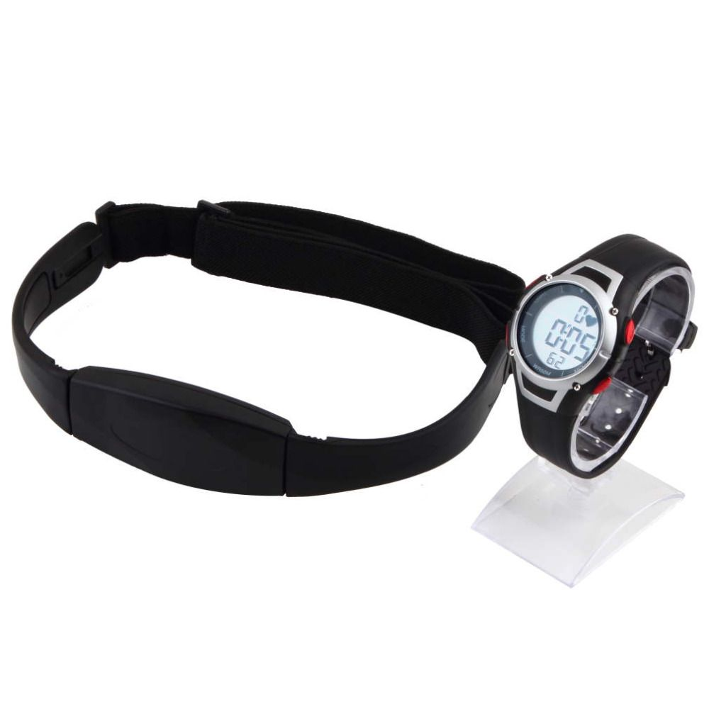 1Pcs 2017 new Heart Rate Monitor Sport Fitness Watch  Favor Outdoor Cycling Sport Waterproof Wireless  With Chest Strap