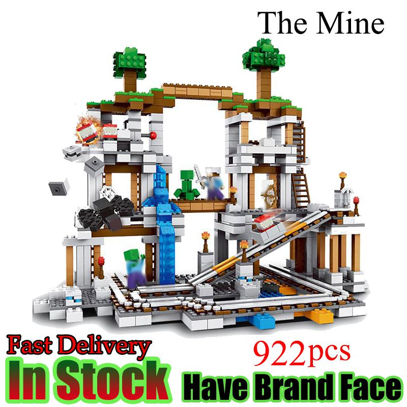 Minecraft 922 Stucke Der Mine My world Figur Kinder legoed Education Building Blocks Bricks Spielzeug Fur Kinder Geschenk