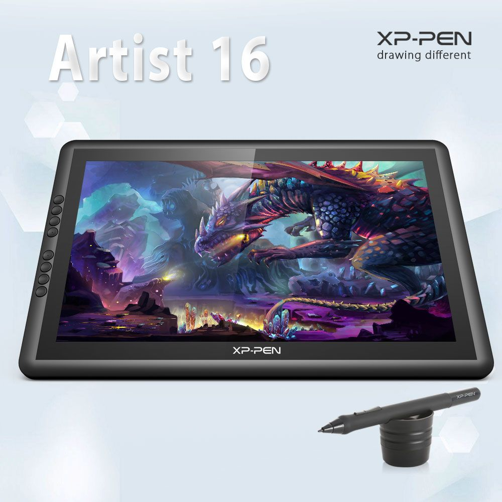 XP-Pen Artist16 15.6 Inch IPS <font><b>Drawing</b></font> Monitor Pen Display <font><b>Drawing</b></font> Tablet with Shortcut Keys
