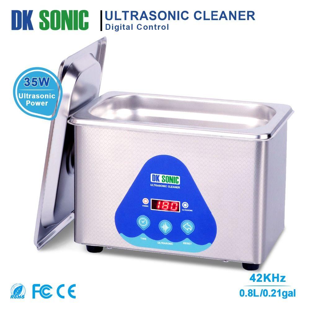 DK SONIC Digital 800ml Ultrasonic Cleaner 35W 42KHz Household Ultrasound Bath for Jewelry Watch Chains Eyeglasses Coins Dental