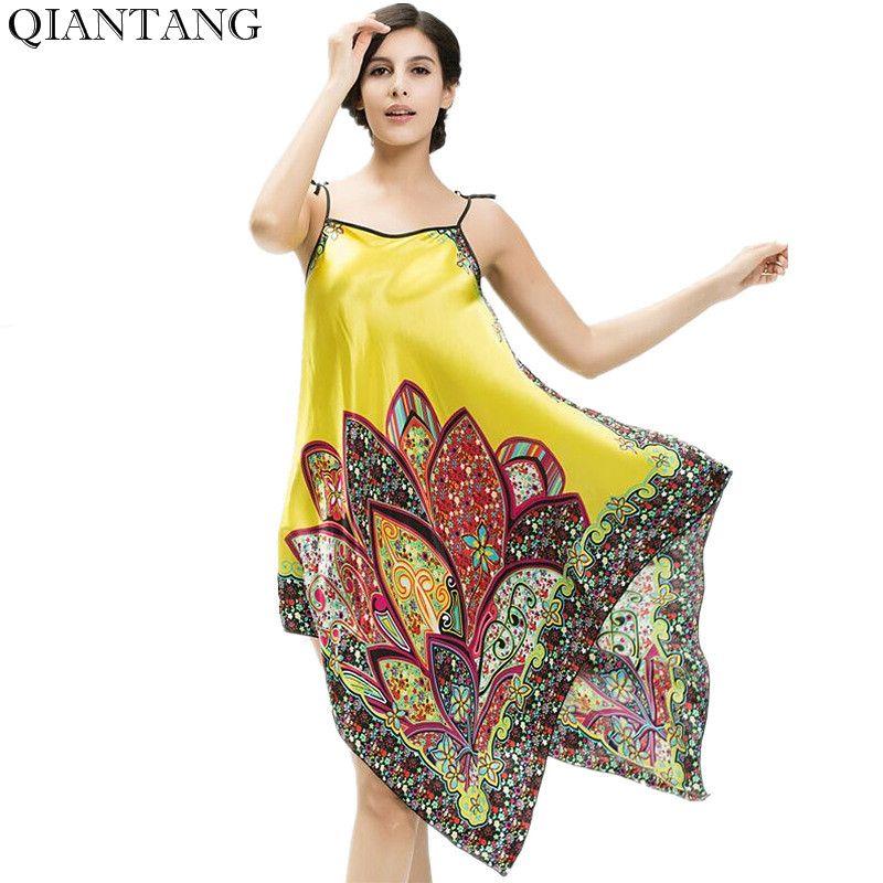 Top Selling Women's Mini Robe Bathgown Short Sleepwear Faux Silk Bath Gown Nightgown Pijama Mujer One Size Y8447
