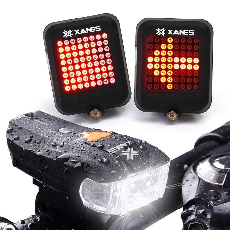 OUTERDO XANES STL-01 600LM German Standard Bike Front Light SFL-01 64 LED Intelligent Brake Warning Bicycle Taillight Set