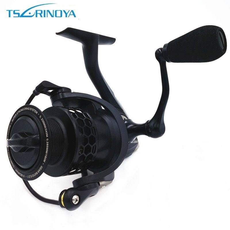 Tsurinoya NA 2000 3000 4000 5000 Spinning Fishing Reel 9BB 5.2:1 Carp Fishing Spinning Reel Saltwater Aluminum Spool Coil