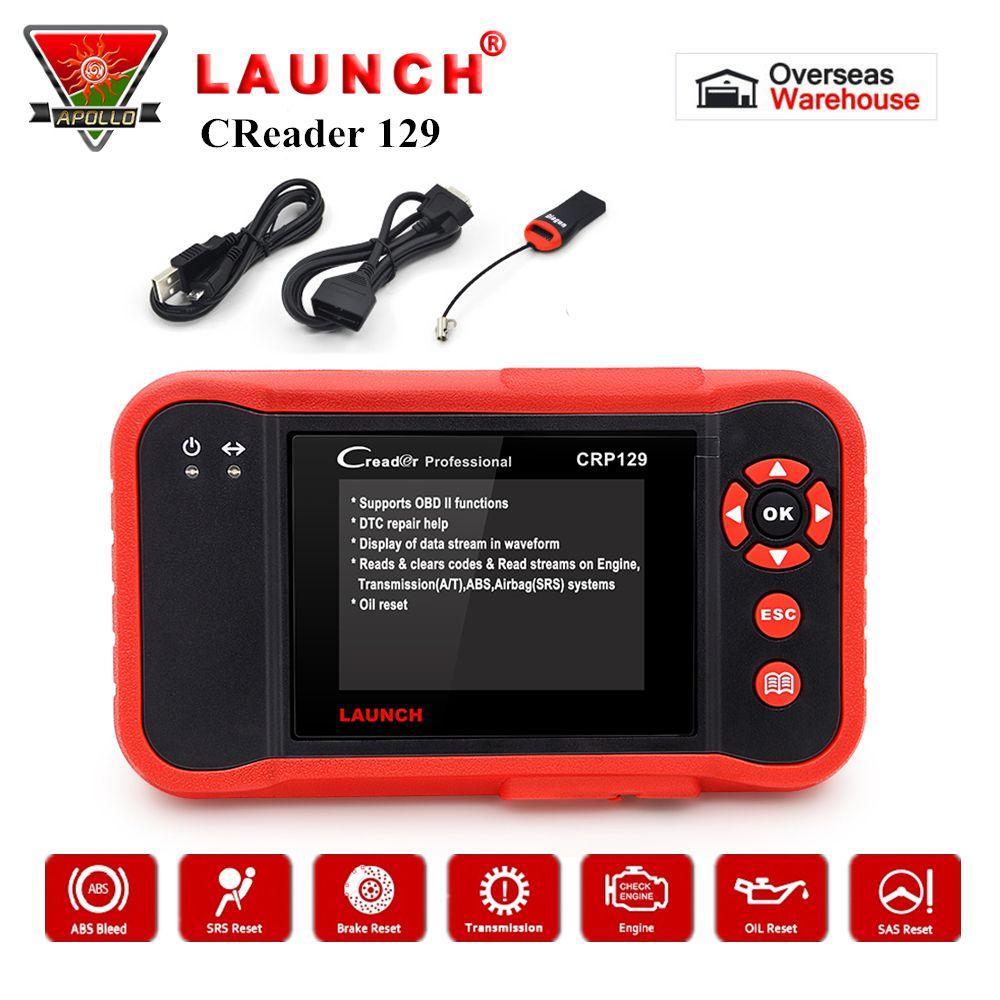 Starten CRP129 OBD2 Code Reader X431 Creader 129 Auto Auto Scanner Diagnose Werkzeug OBDII Scanner Freies Update pk Creader VIII NT614